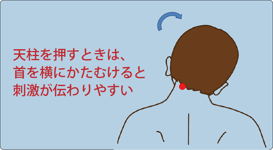 肩こり頭痛-ツボの押し方