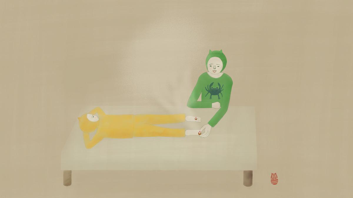 子どもの入眠困難へのお灸
